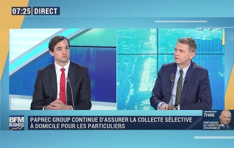 Découvrez l'entretien de Sébastien Petithuguenin sur le plateau de Good Morning Business