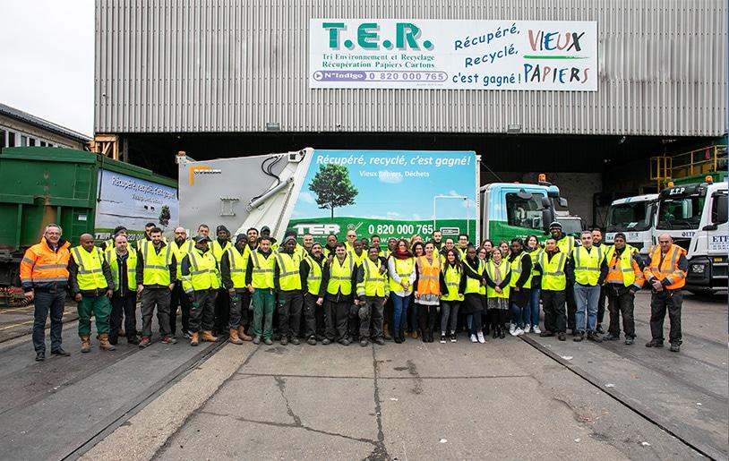Collaborateurs de Tri Environnement Recyclage