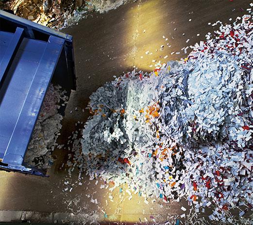 Papiers cdi recyclage