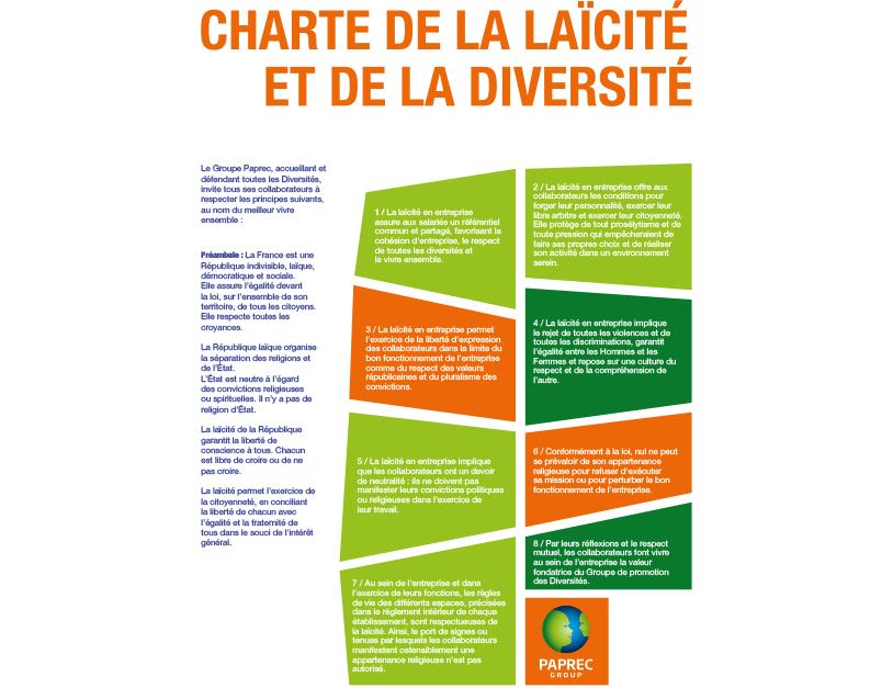 La Charte de la laïcité et de la diversité de Paprec Group