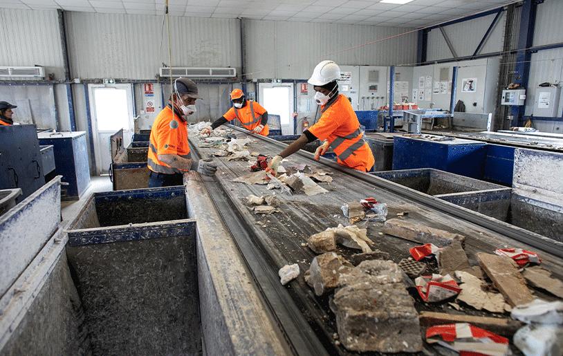 etape-recyclage-des-dechets-de-chantiers-tapis