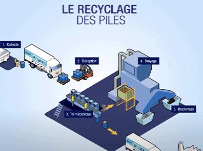 Le recyclage du bois en infographie