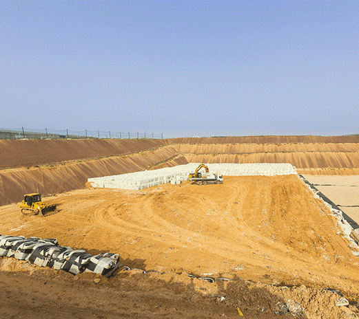Storage sites for non-hazardous waste management